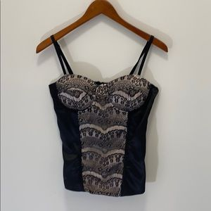 Charlotte Russe halter top with lace details